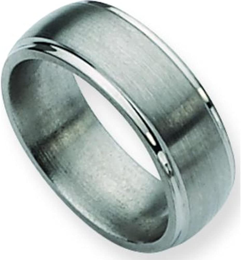 Titanium Limited time sale 8mm Satin Mens Wedding 11.5 Band Size Limited price Ring