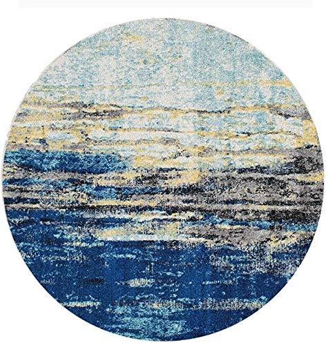 WHHK Alfombra Vintage Azul Sobreteñido Alfombra Desgastada Alfombras De Área Alfombra Moderno Abstracto Tonos Brillantes Diseño Alfombras De Dormitorio De Estar Contemporáneo Alfombra Infantil