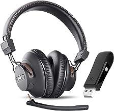 Avantree DG59(M) Wireless Gaming Headphones Set w/Detachable Boom Mic and Bluetooth USB Audio Dongle for PS4, PC, Laptop, ...
