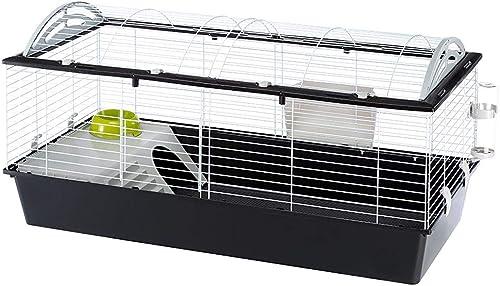 Ferplast Cage pour Lapins CASITA 120, Cochons d'inde Petits Animaux, Toit Arrondi Ouvrable, avec Accessoires