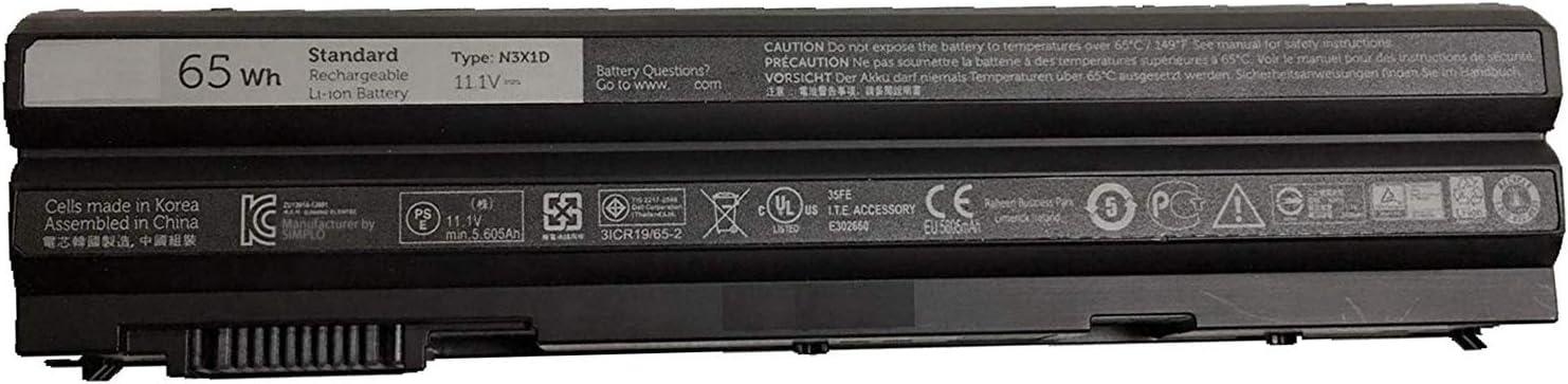 Dentsing N3X1D half 65Wh Max 46% OFF 6 Cells Battery Dell E6540 E644 for Latitude