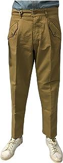 MANIFATTURA CECCARELLI Pantalone Uomo Camel 6518 76% Cotone 24% Lino Made in Italy