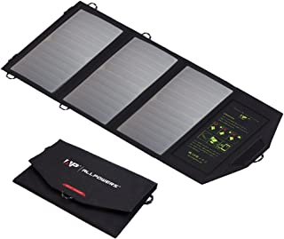 ALLPOWERS 5V21W Portable Solar Panel Dual USB Output Solar Charger for Lawn Mower, Camping, Cellphone, Laptop