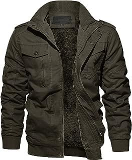 TACVASEN カーゴジャケット メンズ 裏ボア アウター フライトジャケット アウトドア ジャンパー 裏起毛 保温ブルゾン フリース
