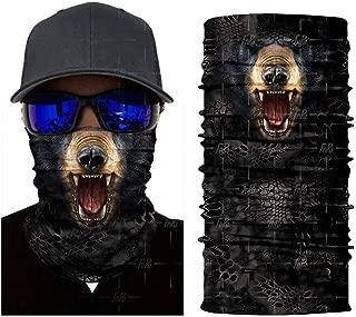 3D Seamless Magic Bandana Animal Monkey Shark Neck Warmer Tube Shield Gaiter Scarf Face Mask Headband,OneSize,Hr041109