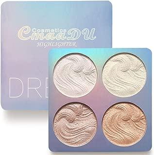 4Color Highlighter Facial Bronzers Palette Makeup Glow Kit Face Contour Shimmer Powder Body Base Illuminator Highlight Cosmetics 02