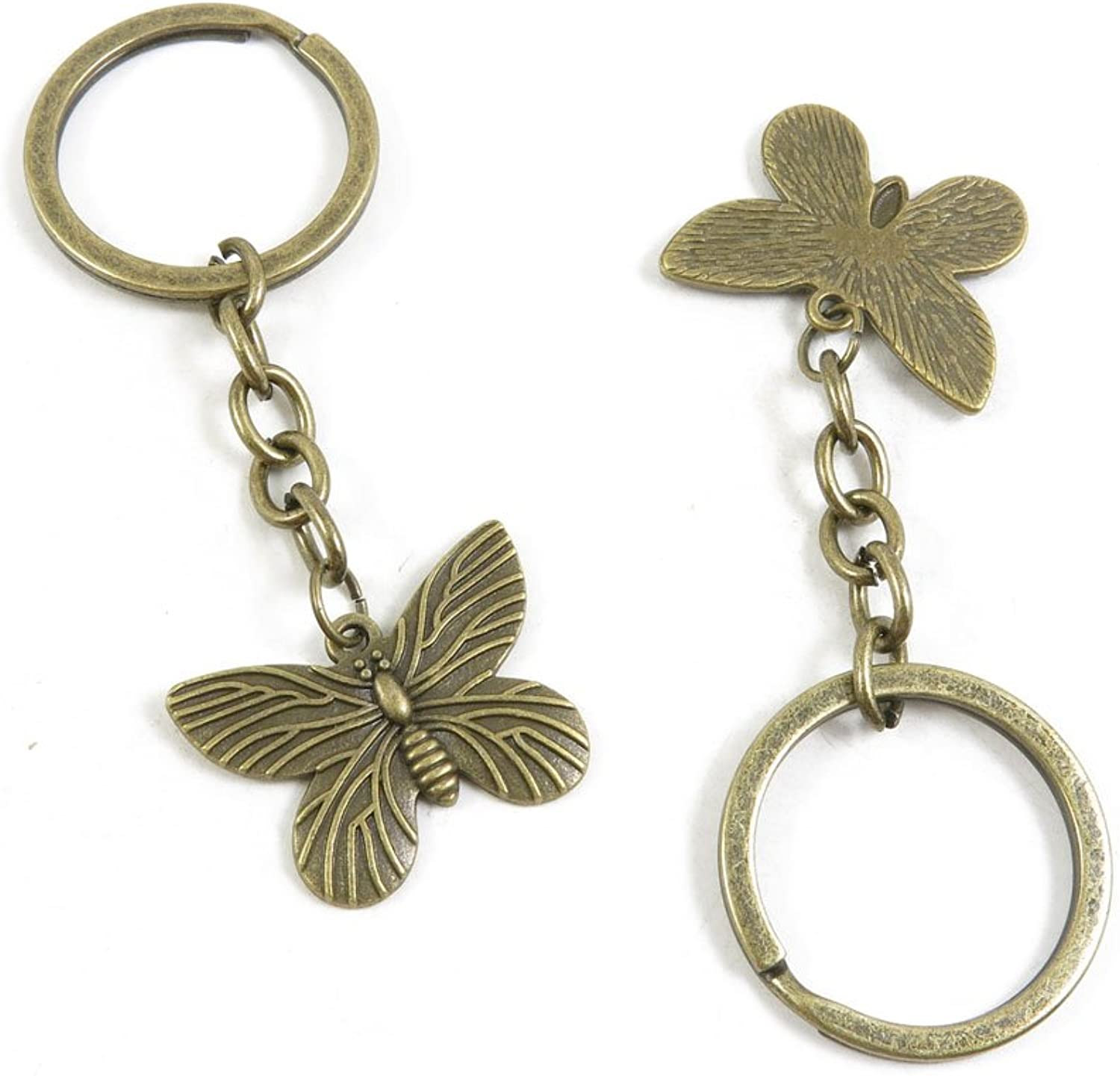 170 Pieces Fashion Jewelry Keyring Keychain Door Car Key Tag Ring Chain Supplier Supply Wholesale Bulk Lots A6VL7 Butterfly