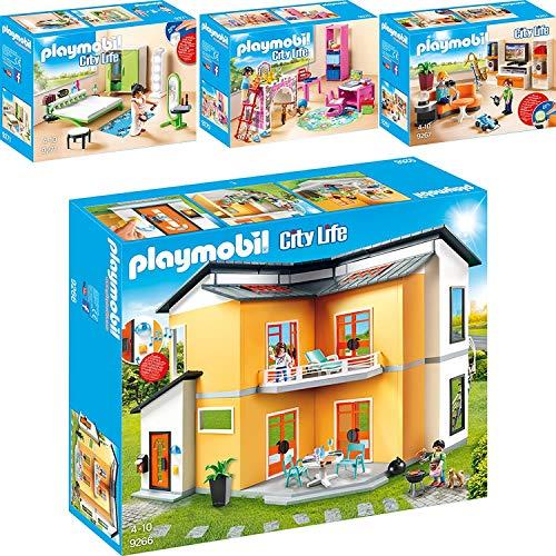 Playmobil 9266-67-70-71 Casa Moderna Set 3: 9266 + 9267 + 9270 + 9271
