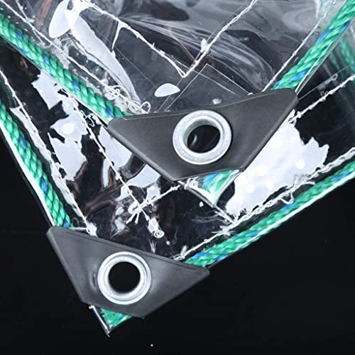 HCYTPL Tissu en Plastique Transparent de bache de Prougeection de bache imperméable Transparent Transparent à 100% avec la Feuille de Terre de bache d'oeillets Couvre la Remise,3  3m