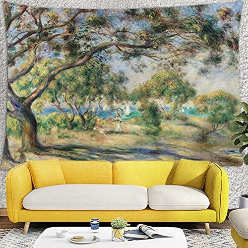Tapiz de paisaje psicodélico nórdico asesino, tela de fondo para colgar en la pared, tapiz de decoración del hogar A5 180X200CM