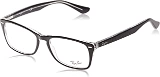 Ray-Ban 0rx5228m No Polarization Square Prescription Eyewear Frame Trasparent on Top Black 54 mm