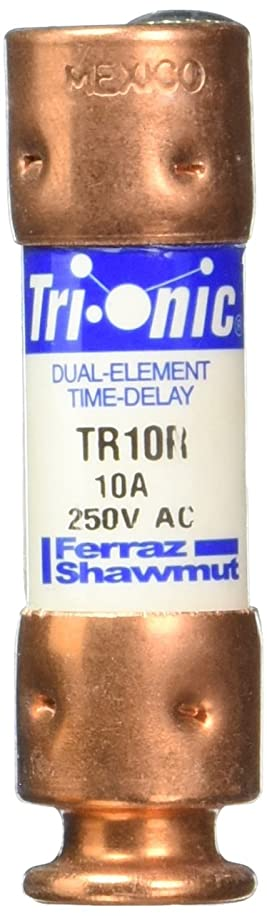 Mersen TR10R 250V 10A 2X9/16 Rk5 Time Delay Fuse, 10-Pack