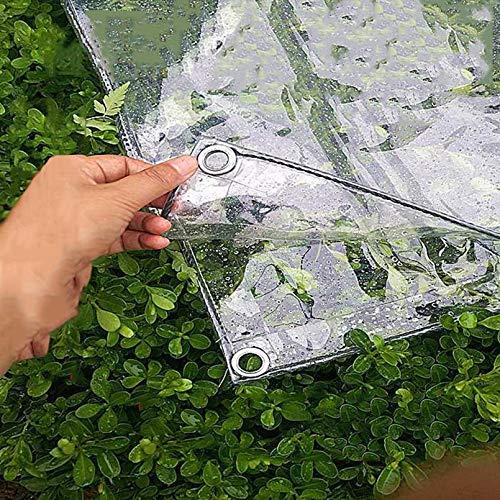 ZHUOZ1T 0.35mm Lona Transparente,Plegable PVC Transparente Cortina Impermeable con Ojales,Polvo,Resistente a Rotura,para Jardines,Invernaderos,Cubiertas Protección Invierno para Plantas