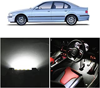 WLJH 18x LED Interior Lights Super Bright White 2835SMD Canbus Error Free Replacement Light Bulbs Package Set Kit for 1996-2003 BMW 5-Series E39 Sedan 525i M54 M5 S62