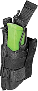 5.11 Tactical MOLLE Double Pistol Mag Pouch, Bungee Cover, Elastic Compression Water Rssistant 500D Nylon, fits Glock Beretta 9mm Clips & More, style 56155