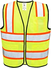 Neiko 53989A High Visibility Safety Vest with 3 Pockets and Zipper, Neon Yellow   Size M