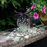 Smart Garden Solar Owl Bird Silhouette Light Garden LED Light Figure Ornament