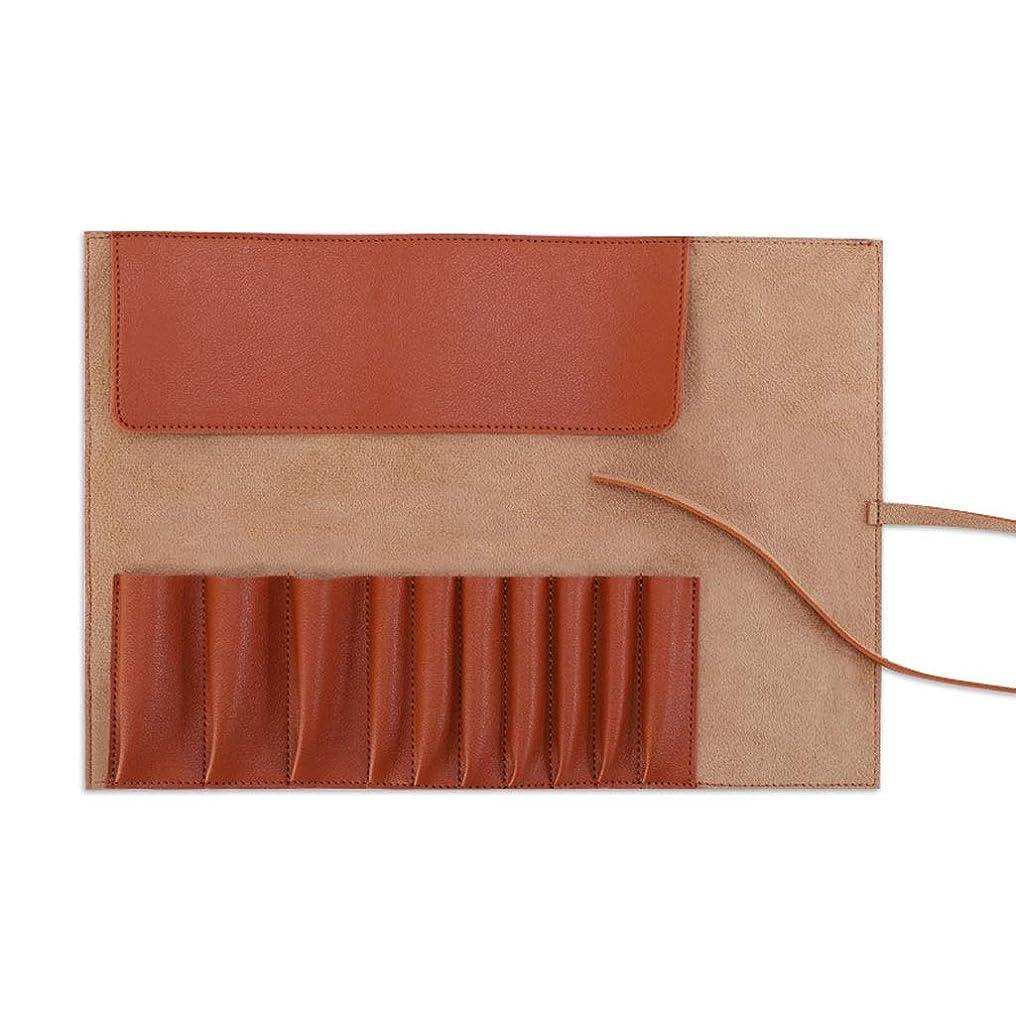 に負けるタービン食用FRF 化粧品バッグ- 女性の防水化粧ブラシ収納袋収納袋化粧キット (Color : Brown, Size : 29x20.5cm)