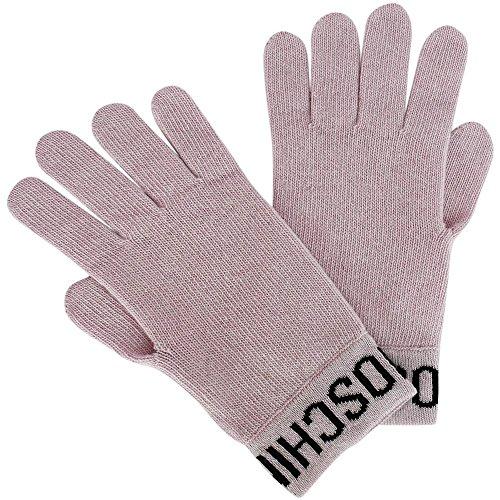 Moschino Strick-Handschuhe mit Logo, Onesize, Rose
