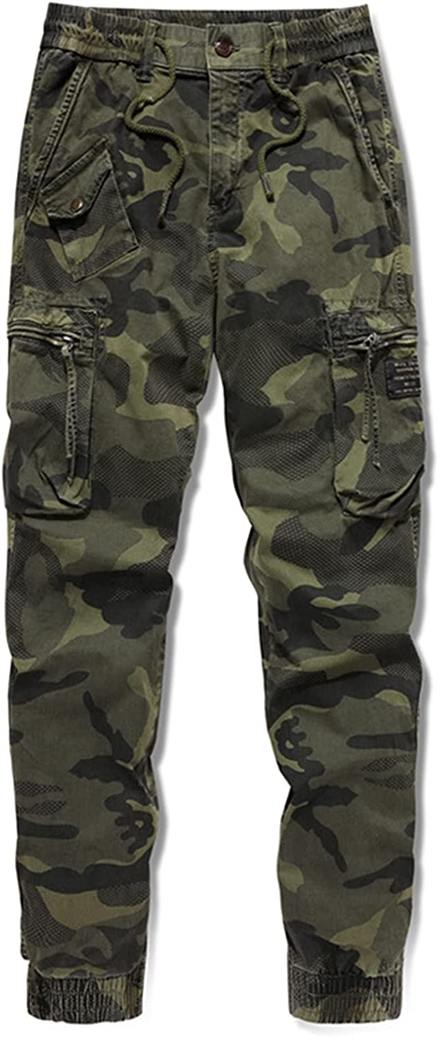 Men's Casual Cargo Pants Military Army Combat Camouflage Work Pa
