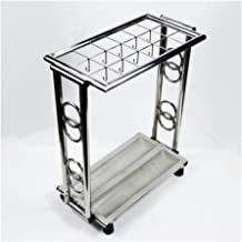 Strong Carrying Capacity Long and short umbrella storage household stainless steel folding umbrella stand / / home floor u...