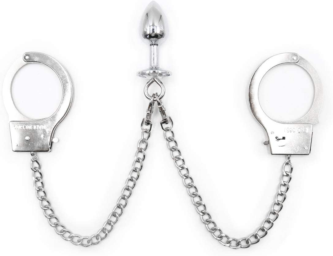 Anal Alternative dealer Plug with Fixed price for sale Butt Trainer Stainless Handcuffs Long Chain
