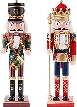 F Fityle 2PCS 30cm Poupée de Marionnette Figurines Casse-Noisette Ornement Maison Sapin de Noël