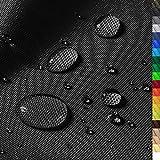 1buy3 'Monaco Wasserdichter Polyester Stoff | 12.000 mm Wassersäule | Farbe 19 | Schwarz | Polyester Stoff 160cm breit Meterware wasserdicht Outdoor extrem reissfest