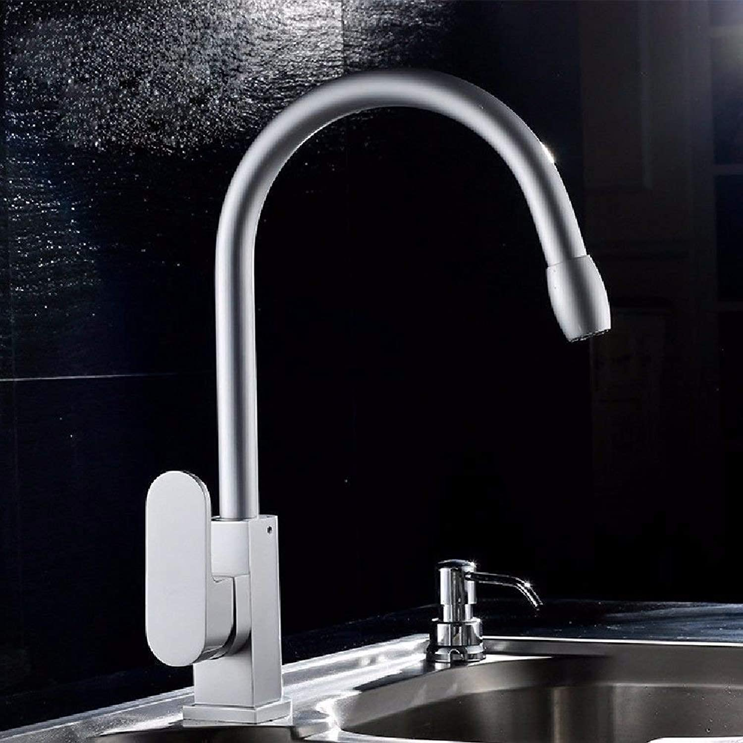 Kitchen tap Kitchen Sink tap Space Aluminum Kitchen Sink tap Sink Faucet (color   -, Size   -)
