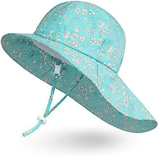 Ami&Li Bébé Chapeau Cou Protection Enfants Coton Anti-UV UPF 50 Chapeau de Soleil Fille Garçon Nourrisson Tout-Petit