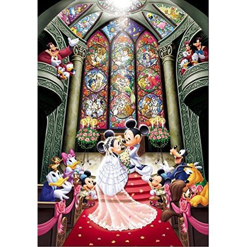 Amazon.com  Tenyo Disney Fantasy Celebration Minnie   Mickey Wedding Jigsaw  Puzzle (1000 Piece)  Toys   Games 59a3181ae