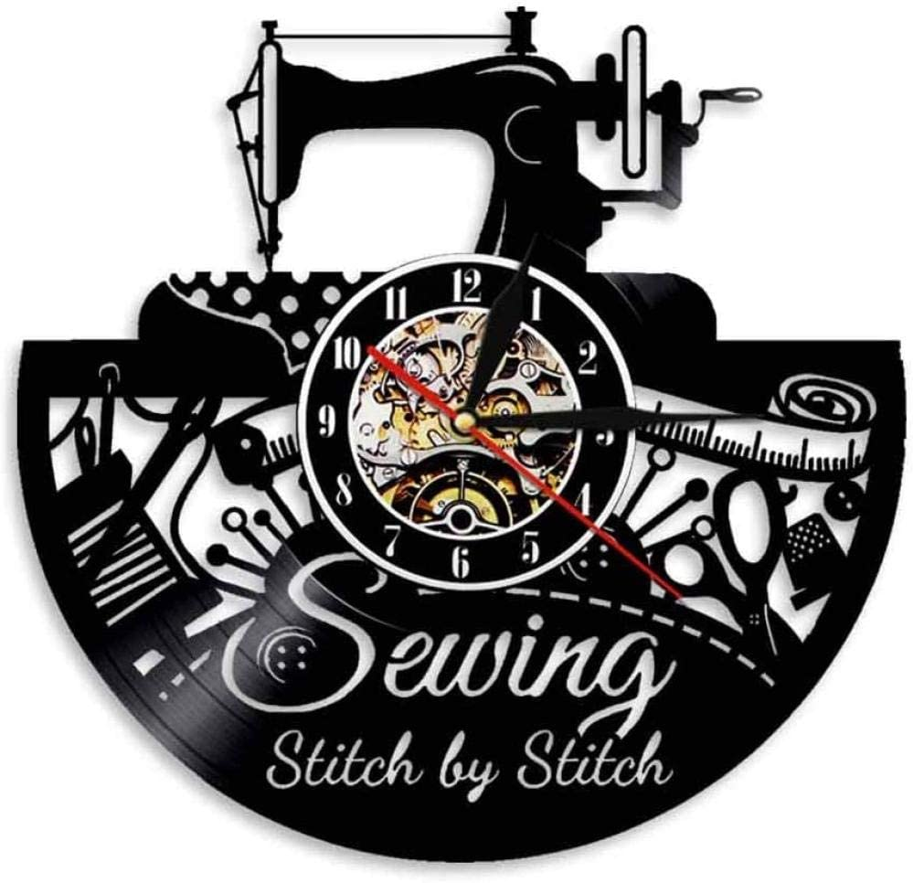 Ranking famous TOP14 30cm Sewing Stitch by Wall Clock Modern Handmade Quilting