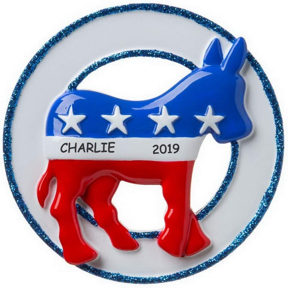 Award-winning store DIBSIES mart Personalized Political Party Democra Ornament Christmas