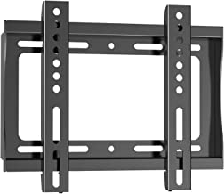 PERLESMITH Fixed TV Wall Mount Bracket for 17-42 Inch LED LCD OLED Plasma Flat Screen TVs - Ultra Slim TV Mount Max VESA 200x200mm - Single Stud Low Profile Fix Wall Mount Holds up to 66lbs
