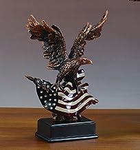 تمثال نسر مع العلم الأمريكي (L) - منحوتات