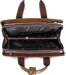 Business Briefcase Shoulder Leather laptop bag Portable Laptop Leather laptop bag Briefcase For Men Leather Handbag Durable JUYOUSHENGKEJI