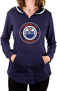 NHL Ladies Official Team Logo French Terry Cover Up Fashion Hoodie Tunic