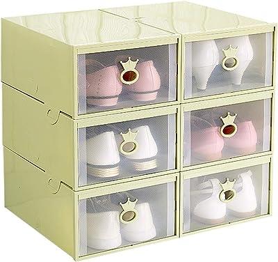 HUYP Zapatilla De Almacenamiento para Mujer Caja De Zapatos para Niños Almacenamiento De Plástico Zapato De