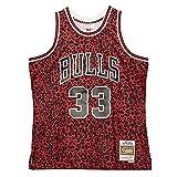 Mitchell & Ness NBA Wild Life Swingman Jersey, rojo y negro, L
