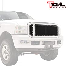 Tidal Rivet All Black Stainless Steel Wire Mesh Insert Grille Fit for 05-07 Ford Super Duty F250/F350/F450/F550