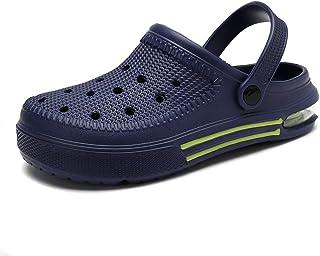 heyun Men Sports Sandals Men Outdoor Indoor Slippers Lightweight Sandals Garden Clogs Hiking Shoes Water Beach Shoes Male