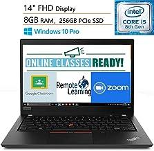 "Lenovo ThinkPad T490 14"" FHD Business Laptop Computer, Intel Quad-Core i5-8265U (Beats i7-7500U), 8GB DDR4, 256GB PCIe SSD..."