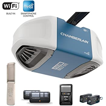 Chamberlain B750 3 4 Hp Equivalent Ultra Quiet Belt Drive Smart Garage Door Opener Amazon Com