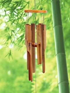 Afirst Wooden Wind Chimes Outdoor, Bamboo Wind Chimes with Amazing Deep Tone for Patio Garden Home Décor, Natural Beautifu...