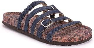 MUK LUKS Women's Terri Sandals- Burgundy