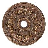 Livex Lighting 8210-30 Ceiling Medallion, Crackled Greek Bronze