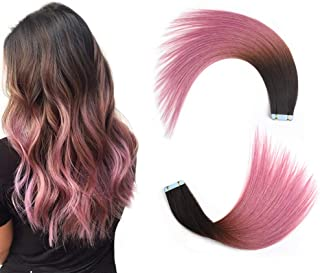 Best dark brown pink ombre hair Reviews