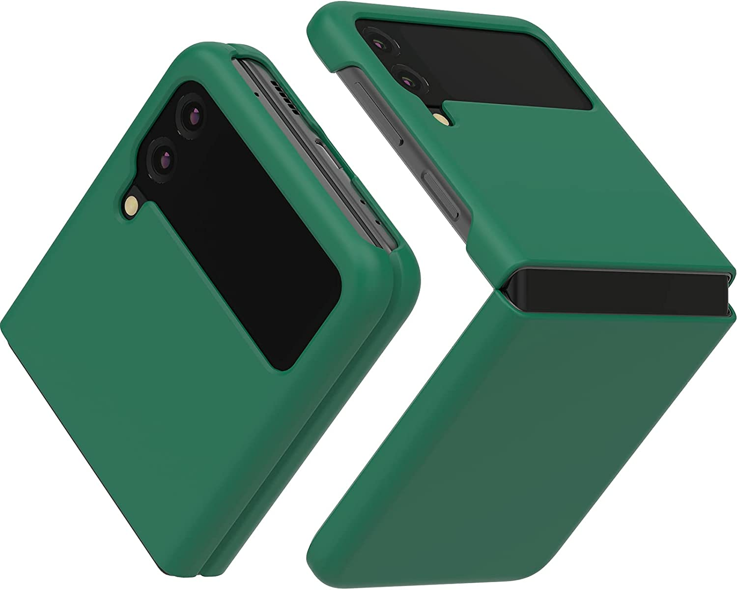 JUST4YOU Slim Fit Hard Case Compatible with Samsung Galaxy Z Flip3 - Green