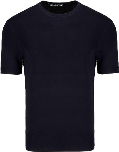 Neil Barrett Homme BMA878VM604C415 Bleu Viscose T-Shirt