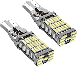 Rayhoo 2pcs 1000 lumens Extremely Bright Canbus Error Free 921 912 T10 T15 AK-4014 45pcs Chipsets LED Bulbs Only for Backu...